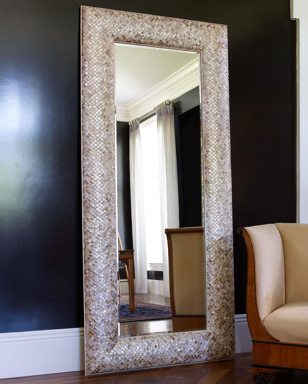 Interlude Home Mother Of Pearl Floor Mirror Neiman Marcus