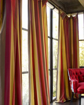 Each Odessa Striped Curtain, 96