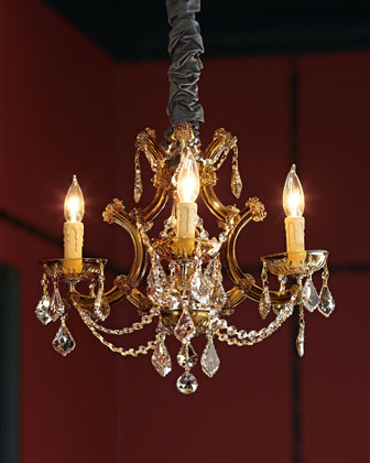 Golden Teak Chandelier