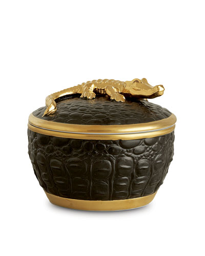 Gold Crocodile Candle