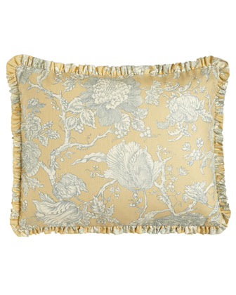 King Spring Garden Toile Duvet Cover