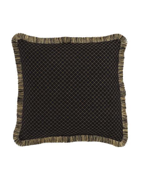 "Diamond-Pattern Gustone Pillow, 19""Sq."