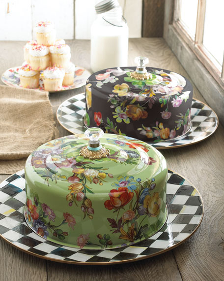 MacKenzie-Childs Flower Market Cake Carrier | Neiman Marcus