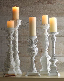 Couture Lamps White Candleholders