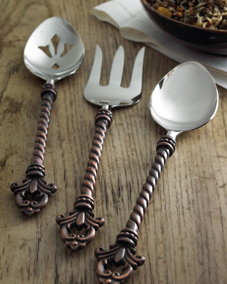 G G Collection 3-Piece Fleur-de-Lis Hostess Set