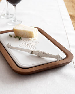 Juliska Wood Cheese Board & Knife Set