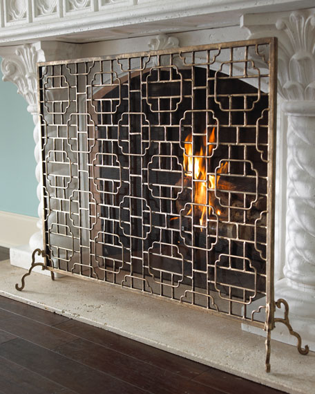 single panel fireplace screen neiman marcus rh neimanmarcus com