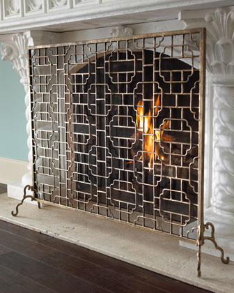 Single-Panel Fireplace Screen