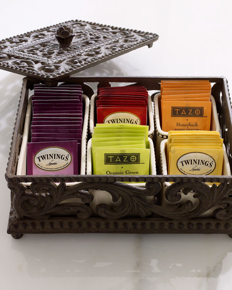 Five-Section Divided Tea Box