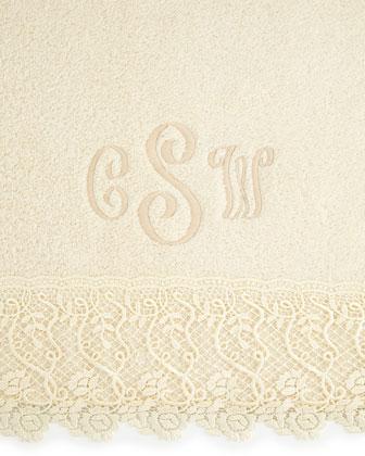 Callista Lace Hand Towel, Plain