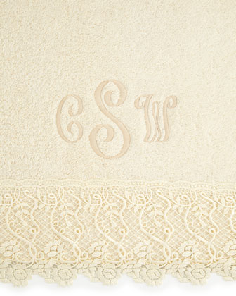 Callista Lace Guest Towel, Plain