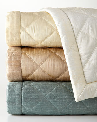 Big Diamond Silk Coverlets & Shams