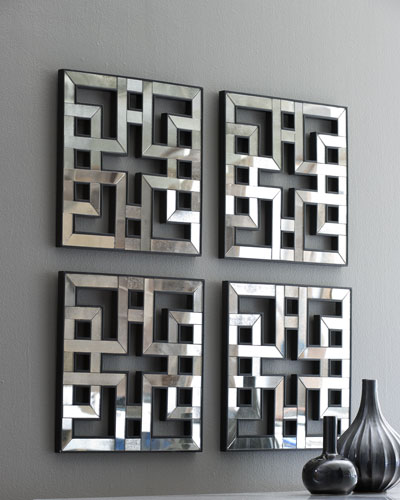 Four Fretwork Mirrors