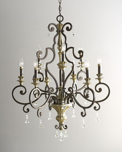 "QUOIZEL Nine-Light ""Treviso"" Chandelier"