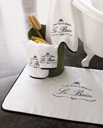 Le Bain Black-Trim Towels