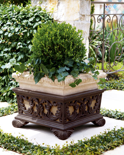 PEBA TRADING Square Planter with Stand