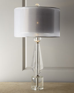 John-Richard Collection Double Shade Crystal Lamp