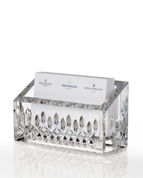 Waterford crystal lismore business card holder neiman marcus lismore business card holder colourmoves
