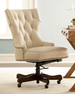 """Conroy"" Leather Office Chair"
