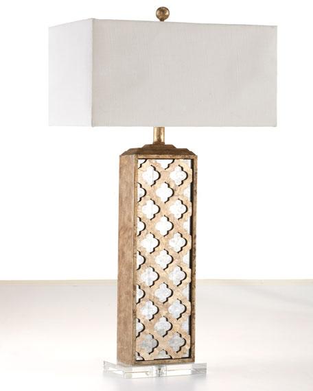 Mirrored Capiz Lamp