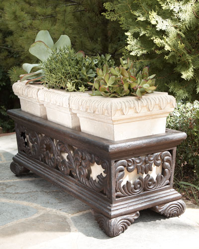 """Triple Leaf Scroll"" Planter"