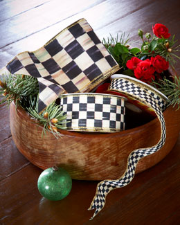 "MacKenzie-Childs 4"" Courtly Check Ribbon"