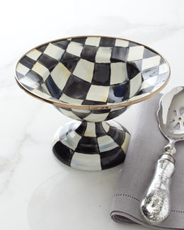 MacKenzie-Childs Small Courtly Check Compote