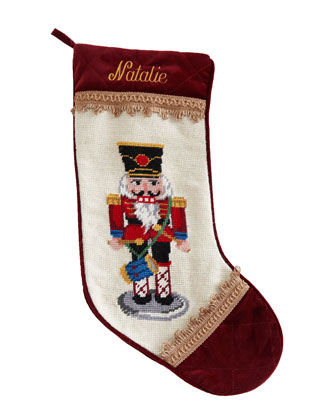Red Nutcracker Christmas Stocking, Personalized