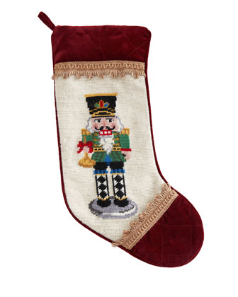 Nutcracker Needlepoint Christmas Stockings