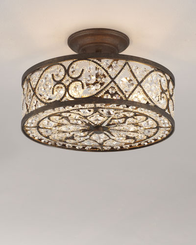 """Woven Crystal"" Ceiling Fixture"