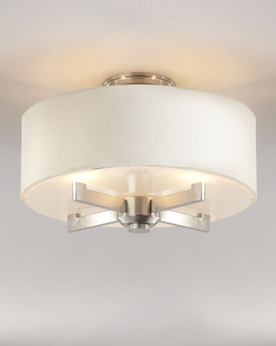 """""""Silver Satin"""" Ceiling Fixture"""