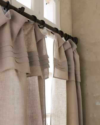 Pleated-Top Curtains