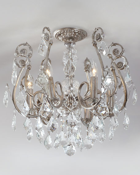 mini chandelier flush mount light fixture