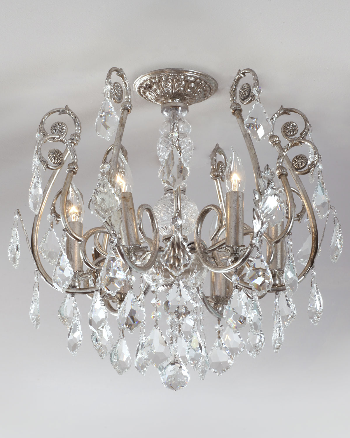 crystal flush mount chandelier. Crystal Flush Mount Chandelier E