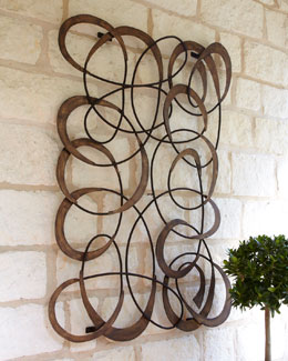 """Mingling Circles"" Wall Decor"