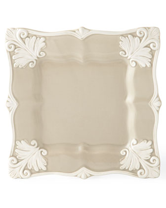 12-Piece Taupe Square Baroque Dinnerware Service