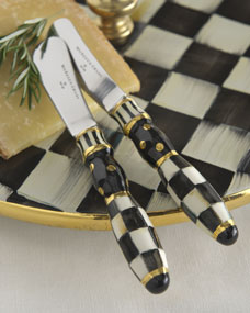 Mackenzie childs courtly check canape knives for Canape knife