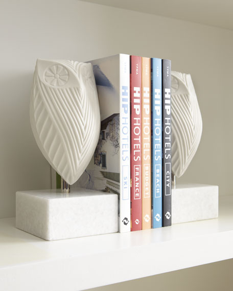 Jonathan Adler Pair of Owl Bookends