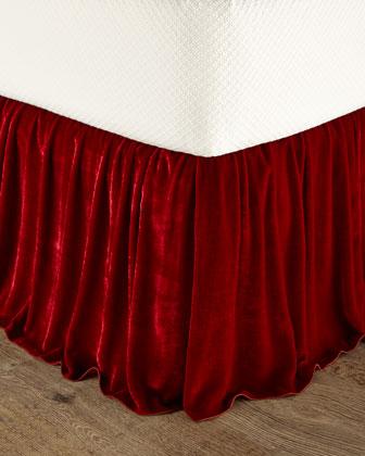 King Panne Velvet Dust Skirt