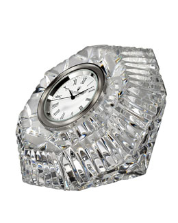 "Waterford ""Lismore"" Diamond-Shaped Clock"