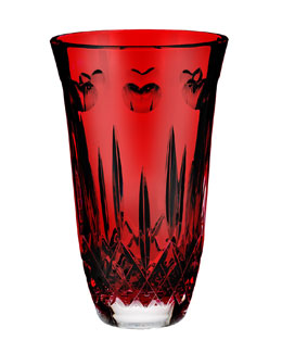 "Waterford ""I Love Lismore"" Red 8"" Vase"