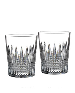 "Waterford Crystal Two ""Lismore Diamond"" Tumblers"