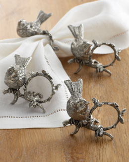 "Vagabond House ""Song Bird"" Napkin Rings"