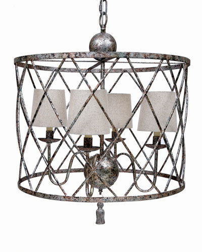 Open Weave Four-Light Chandelier