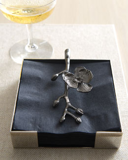 Michael Aram Black Orchid Napkin Holder