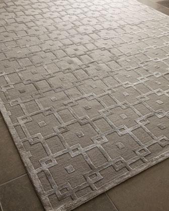 Silver Blocks Rug