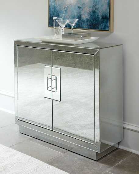 Mirrored Glass Kitchen Cabinets: Lily Mirrored Cabinet