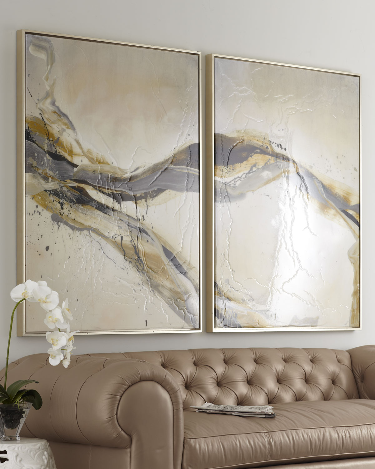 two piece ascent giclee on canvas wall art set neiman marcus