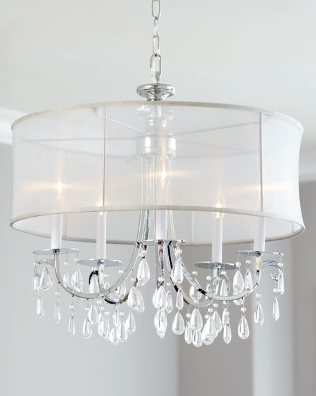 Hampton Shaded Chandeliers & Matching Items