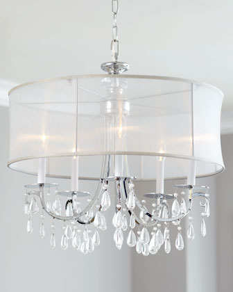 Hampton Five-Light Shaded Chandelier
